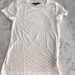 French connection Polkadot White T-shirt